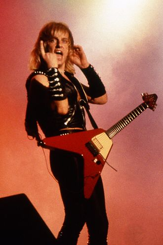 K. K. Downing - Downing performing with Judas Priest in 1984.