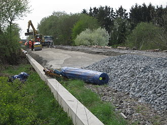 Vogelsberg Railway - Renewal of infrastructure at Gießen-Rödgen during Easter 2011
