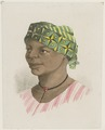 KITLV - 36B237 - Borret, Arnoldus - Woman with headscarf - Water colour - Circa 1880.tif