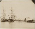KITLV - 39010 - Muller, Julius Eduard - Paramaribo - Quay for unloading ships in Paramaribo with at the right the coffee balance - circa 1885.tif