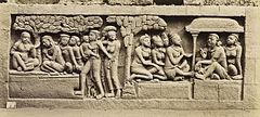 KITLV 40083 - Kassian Céphas - Relief of the hidden base of Borobudur - 1890-1891.jpg