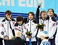 KOCIS Korea ShortTrack Ladies 3000m Gold Sochi 30 (12629369015).jpg
