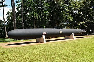 Kaiten Type 4 side view at USS Bowfin Museum- Pearl harbor.jpg