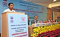 Kamal Nath delivering the keynote address at the Workshop on Unified Standard Contract Document jointly organized by the Ministry of Urban Development and Builders' Association of India, in New Delhi. The Secretary.jpg