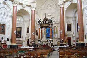 Basilica of Our Lady of Mount Carmel, Valletta - Interior of the Basilica