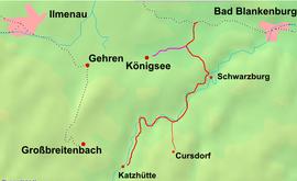 Strecke der Schwarzatalbahn
