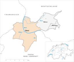 Basel og andre kommuner i kantonen Basel-Stadt