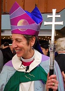 La chiesa anglicana, ha deciso nel secolo XIX di ordinare anche donne, nella foto Katharine Jefferts Schori, vescovo anglicano statunitense