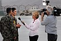 Katie Couric Interviews Afghan Security Forces At Air Force Base (4907046814).jpg