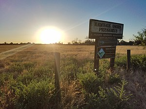 Kaweah Oaks Preserve - The sign outside the preserve in Visalia.