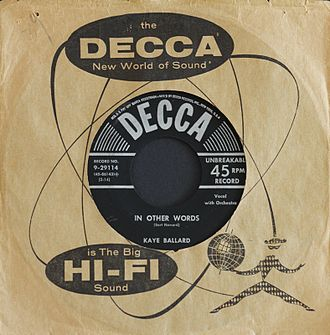 Fly Me to the Moon - Image: Kaye Ballard In Other Words Decca Records Inc. Catalog Number 9 29114 Photographed 15 April 2014