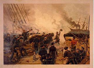 Naval artillery artillery mounted on a warship