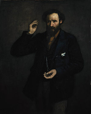 Keir Hardie - Portrait of Hardie painted in 1893 by Scottish artist John Henry Dobson