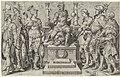 Keizer Karel V omgeven door zijn overwonnen tegenstanders Overwinningen van Karel V (serietitel) Divi Caroli. V. imp. opt. max. victoriae, ex multis praecipuae (serietitel), RP-P-BI-6598.jpg