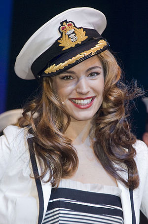 Kelly Brook at the January 2009 London Boat Show.