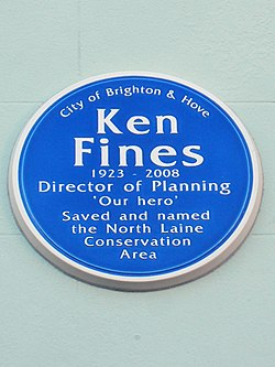 Ken fines 1923 2008 director of planning %27our hero%27 saved and named the north laine conservation area