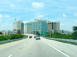 Dadeland - Dadeland, as seen from an entrance ramp onto the Palmetto Expressway