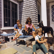 Kennedy Family with Dogs During a Weekend at Hyannisport 1963