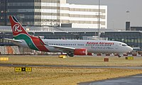 5Y-KYF - B738 - Kenya Airways