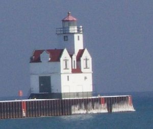 The Kewaunee Pierhead Lighthouse in Kewaunee, ...