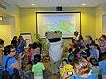"""Kids singing """"El Sapo no se lava el pie"""" and dancing it with the Puerto Rican Crested Toad(Refuge Week Activity 2012) (8214665532).jpg"""