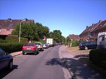 Karlsbader Straße, Blickrichtung nach Norden