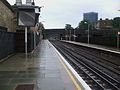 Kilburn High Road stn look east to end of 4th rail.JPG