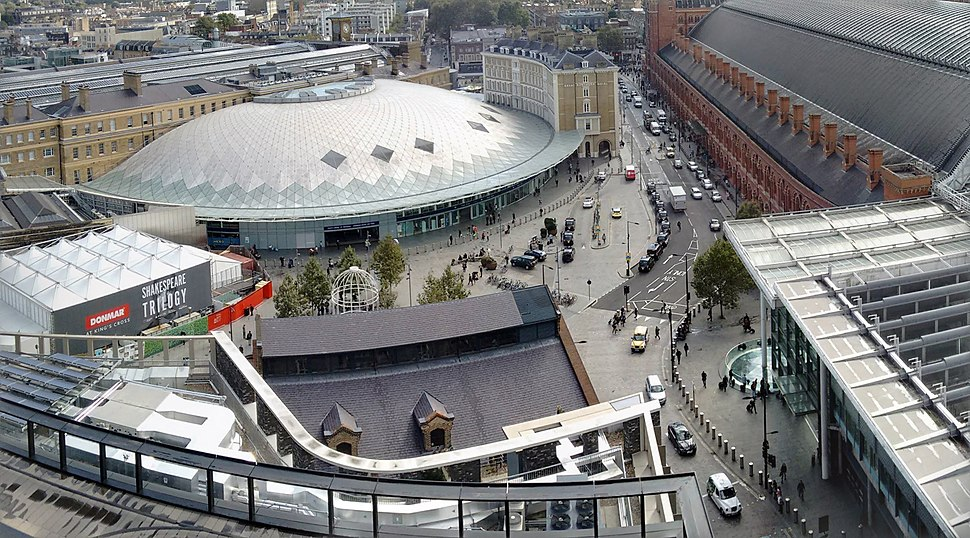 King's Cross St. Pancras aerial view, image 6