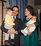 King Hussein and Princess Muna with sons 1964.jpg