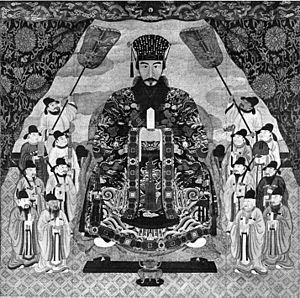 Shō Iku - Official royal portrait of Shō Iku, painted by Mō Chōki in 1852