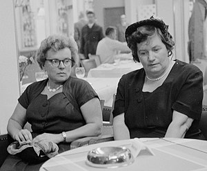 1st Women's Chess Olympiad - Kira Zvorykina and Olga Rubtsova, the winning Soviet Union team.