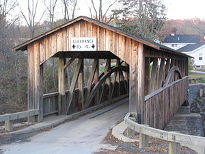 National Register of Historic Places listings in Bradford County, Pennsylvania - Image: Knapp's Covered Bridge