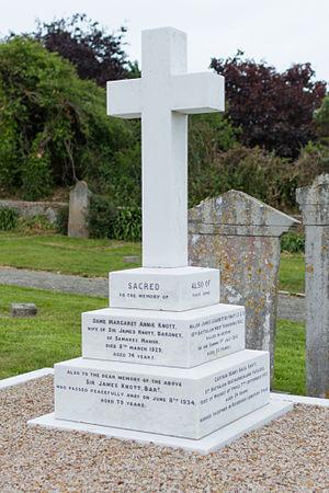 Sir James Knott, 1st Baronet - Image: Knott family gravestone, Jersey