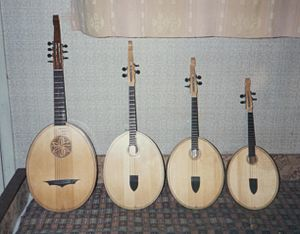 Kobza - The instruments are made today in prima (soprano), alto and tenor and contrabass sizes.