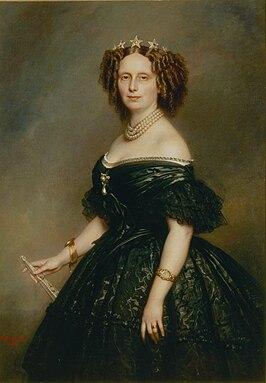 Koningin Sophia in 1863, werk van Franz Xaver Winterhalter