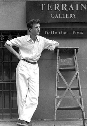 Chaim Koppelman - Chaim Koppelman at the Terrain Gallery, NYC, June 1956 Photo: Lou Dienes