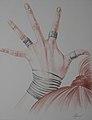 Korzhev Ivan. Chuvstvo. Коржев И. Авторская серия Руки. Чувства, 2008, цветной карандаш, 66х50см.jpg