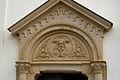 Kostel svatého Jana Nepomuckého, Podolí - výzdoba nad vchodem.jpg