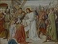 Kruisweg Sint-Clemenskerk, Nuenen, statie 06, Veronica droogt het aangezicht van Jesus af.jpg