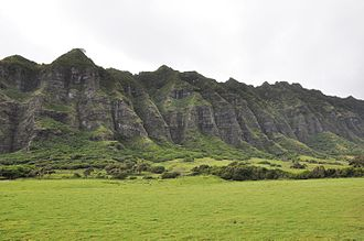 Isla Nublar - Filmmakers returned to the Kualoa Ranch, where the Gallimimus chase scene was filmed in Jurassic Park