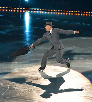 Kurt Browning - Kurt Browning performing Singin' in the Rain in Art on Ice 2014.
