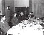 Kurt Dittmar, his son Berend and MG Leland S. Hobbs in April 25 1945 in Magdeburg