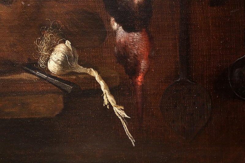 File:L'empoli, dispensa con testa e piede di porco, testa di vitello e selvaggina, 1621, 05 aglio.jpg