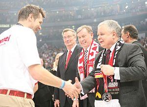 Bogdan Wenta z prezydentem Lechem Kaczyńskim