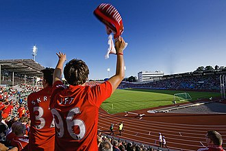 Bislett Stadium during a friendly between Lyn Oslo and Liverpool F.C. LIverpool VS Lyn Bislett Stadion.jpg