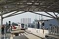 LRT Jakarta - Hyundai Rotem LRV Leaving Velodrome Station.jpg