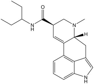 Lysergic acid 3-pentyl amide - Image: LS3P structure