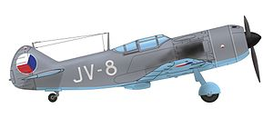 Lavochkin La-7 - Lavochkin La-7 of the 2nd flight, 1st fighter air regiment, 4. air division Czechoslovak Air Force, 1947