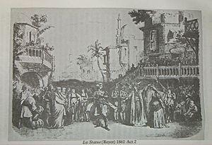 La statue - La statue (opera by Ernest Reyer) performed at Théâtre Lyrique, Paris, 1861