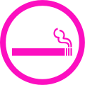 Ladies smoking area round.svg